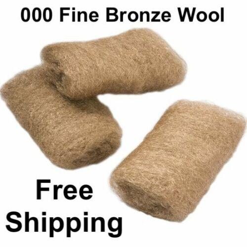 BRONZE FINE WOOL 000 3 PADS FOR MARINE AUTOMOTIVE RV & WINDOW CLEANING & SANDING