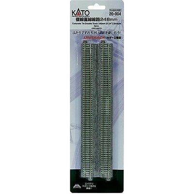 "NEW kato N Double Track Straight Concrete Ties 9-3/4"" (2) 20-004"