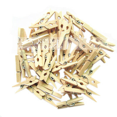 Cloth Pins (New Set of 100 Wood Clothespins Wooden Laundry Clothes Pins)