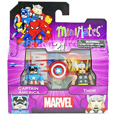 MiniMates Marvel Best of Series 1 Captain America & Thor Figure 2