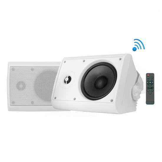 Dual Bluetooth Wall Mount Speakers - 4 Inch 200 Watt Pair of