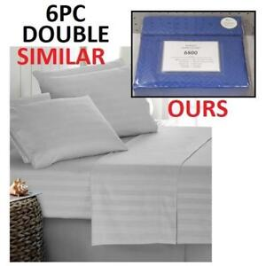 NEW BAMBOO 6PC BED SHEET SET DOUBLE HA-1114D 223561719 HOME LUXURY 6800 SERIES DEEP POCKET WRINKLE FREE BEDDING BEDROOM