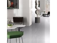 PORCELAIN FLOOR TILE SMART LUX WHITE - Frost Proof and Anti-Slip Rating!