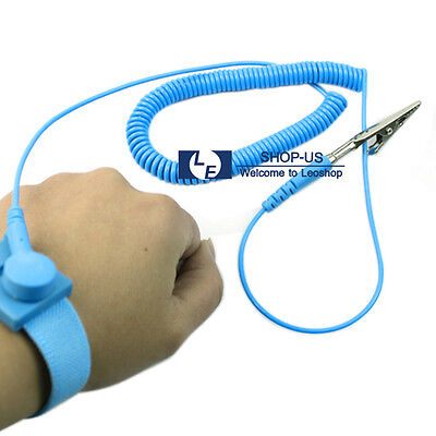 New Anti-static ESD Adjustable Strap Antistatic Grounding Bracelet Wrist Band