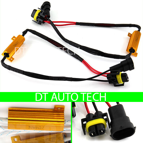 h11 led drl fog light canbus 50w 6ohm load resistor wiring