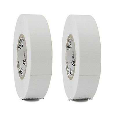 2 Rolls White Vinyl Pvc Electrical Tape 34 X 66 Flame Retardant Free Shipping