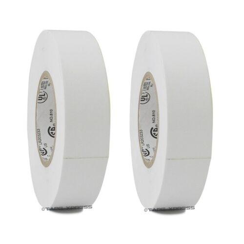 "2 Rolls White Vinyl PVC Electrical Tape 3/4"" x 66"