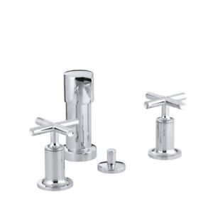 Kohler 14431-3-CP Purist Bidet Faucet With Vertical Spray And Cr