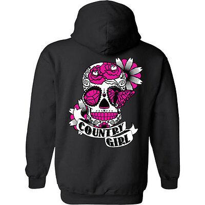 Sugar Skull Female (Country Girl Sugar Skull Women's Hoodie)