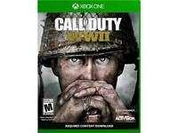 Call of duty ww2 xbox one, used once imaculate.