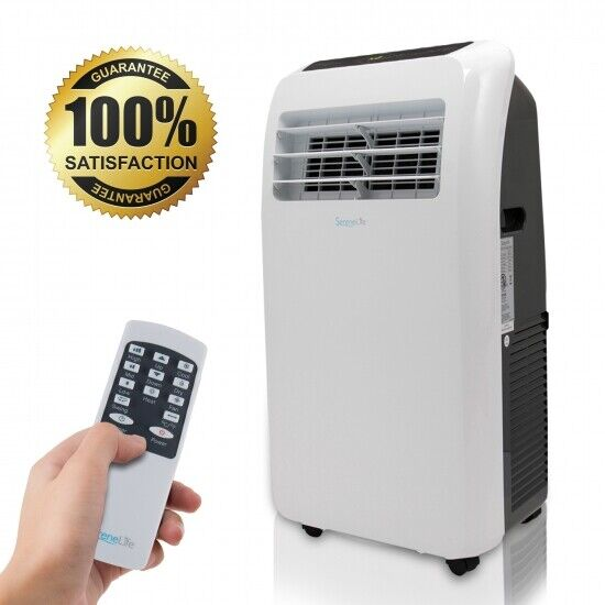 Coverage Remote Control Wheels Window Kit Quiet Operation DELLA 10000 BTU Portable Air Conditioner AC with Self self Evaporation System Fan 80 Pint//Day Dehumidifier 450 Sq Ft