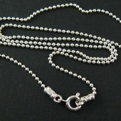 - Sterling Silver Necklace-Tiny Ball Chain (All Sizes) Ball Necklace-Made in Italy