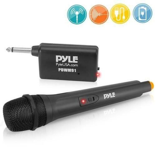 PYLE-PRO PDWM91 Professional VHF Handheld Microphone system w/Adapter Receiver