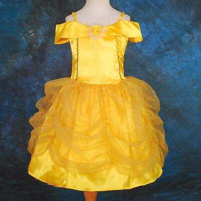 Cartoon Princess Belle Halloween Fancy Party Dress Costume Girl Size 18M-9 FC017