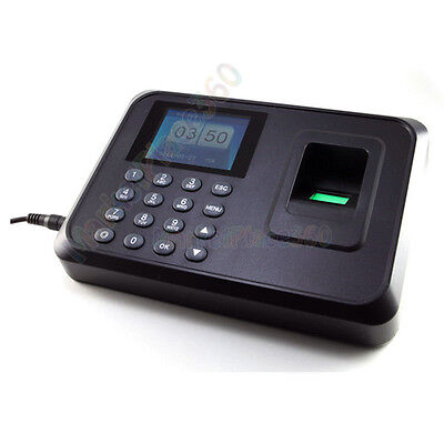 2.4 Inch Lcd Finger Print Attendance Time Clock Recorder Work Usb High Quality