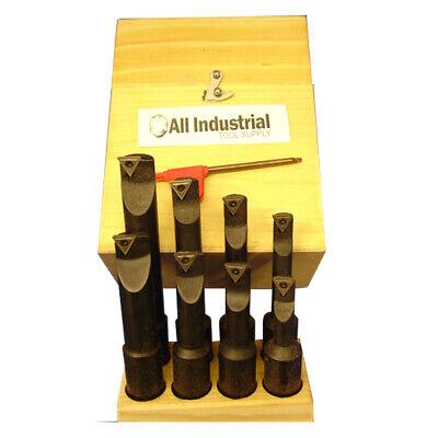 8 Pc 34 Indexable Boring Bar Set Lathe Round Shank Bars