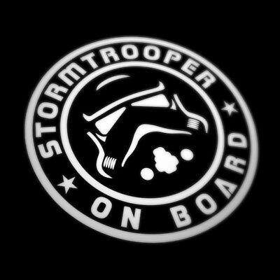 Baby On Board Star Wars Inspired Car Sticker Decal Stormtrooper, Window Bumper