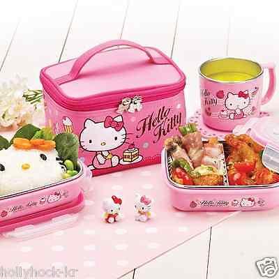 Lock&Lock Sanrio Hello Kitty Stainless Steel Bento Lunch Box Food Storage Set