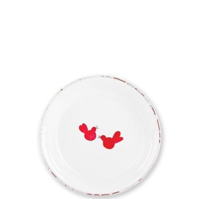 Vietri Old St. Nick Ti Penso Small Plate (w/ Red Birds) - Set of 4