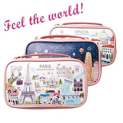 Etude House  Feel The World Pouch Travel Cosmetic Bag