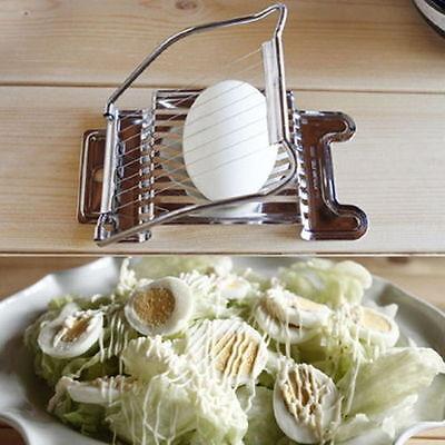 Stainless Egg Cutter Slicer Kitchen Chopper Egg Knife Chopper Peeler Home Tool