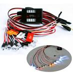 12PCS RC 1/10 Car Truck Parts LED Lighting Kit Brake + He...