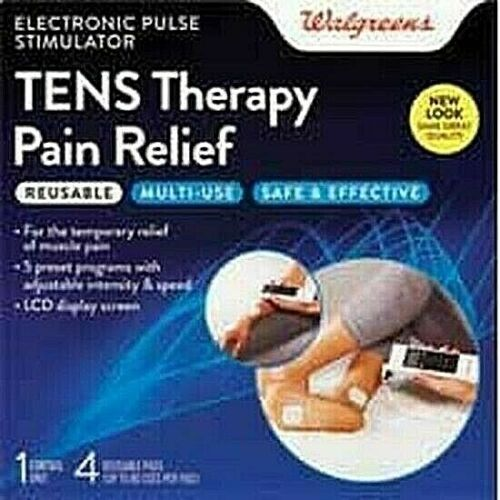 Walgreens TENS Therapy Pain Relief Electronic Pulse Stimulator Sore Muscles NEW!