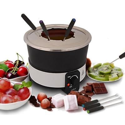 (NutriChef Fondue Maker Electric Melting Pot Cooker | Non Stick Heat Resistant)