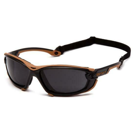 Carhartt CHB1020DTMP Toccoa Safety Glasses Black/Tan Frame Gray H2MAX Anti-Fog Business & Industrial