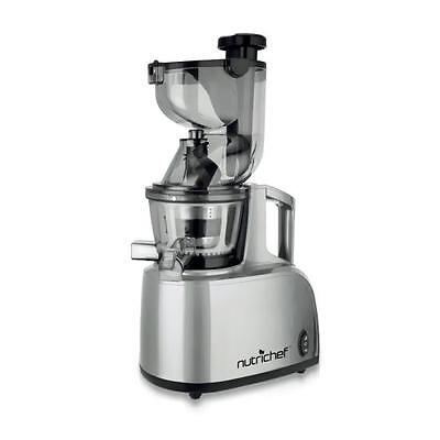 NutriChef PKSJ40 Countertop Masticating Not with it Juicer Juice and Drink Maker, Steel