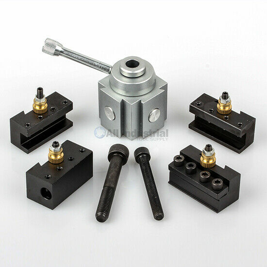 """Mini Quick Change Tool Post Set for 7x10, 7x12, 7x14"""" Table/Hobby Lathes"""
