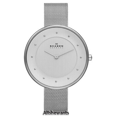 NEW SKAGEN WATCH for Women * Gitte Silver Tone Steel Mesh Bracelet * -