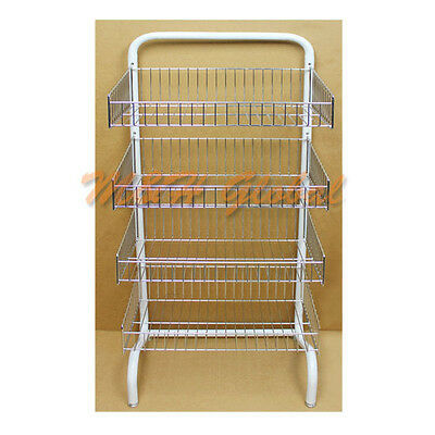 4 Frontal Basket Rack Retail Display Clothing Garment Storage Rack