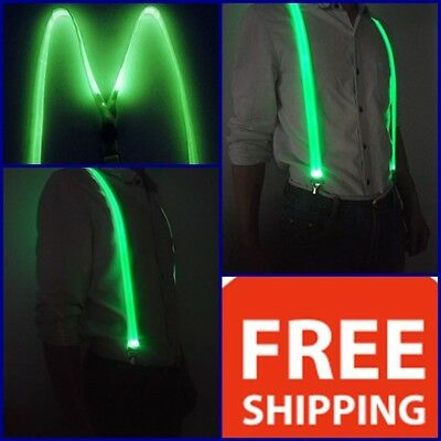 LED Light Up Glowing Suspenders Men Suit Costume Christmas New year Party - Light Up Costumes For Men