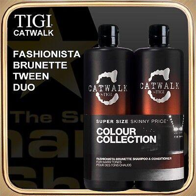FASHIONISTA BRUNETTE Shampoo Conditioner (2x750ml) CATWALK TIGI Tween Duo