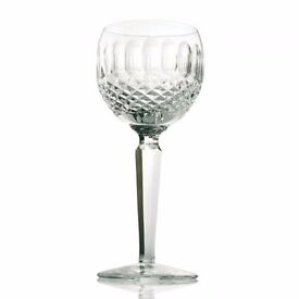 Beautiful crystal glasses, Waterford, colleen pattern, for wine, champagne, liqueur, etc.