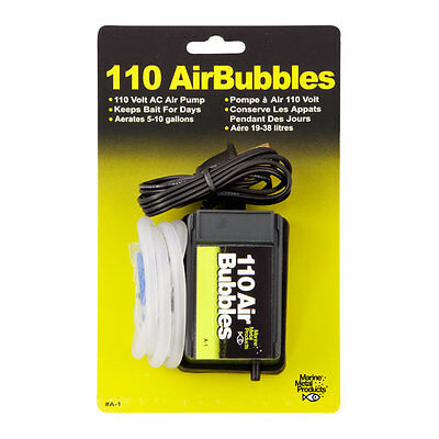110 Air Bubbles Air Pump, Aerates 5-10 Gallons, Aerator, Keeps Bait Alive #A-1