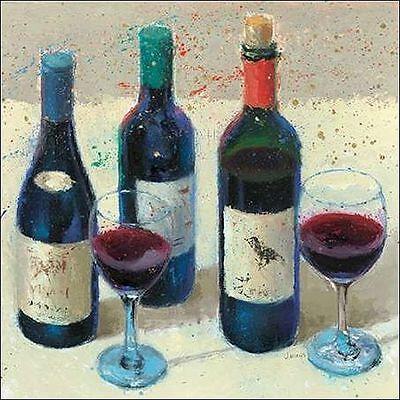 James Küche (James Wiens: Wine Bouquet I Keilrahmen-Bild Leinwand Wein Flaschen Küche)