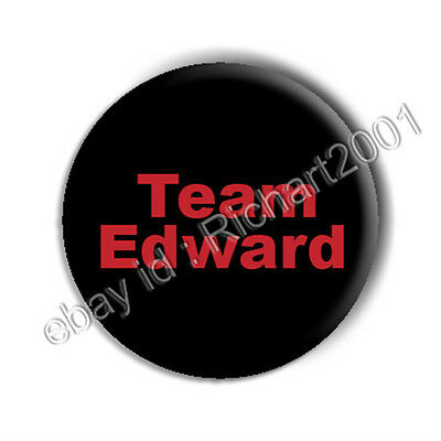"TWILIGHT BUTTON BADGE PIN - ""TEAM EDWARD"""