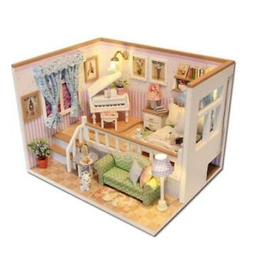 Hoomeda M026 DIY Wooden Dollhouse Because Of You Miniatur...