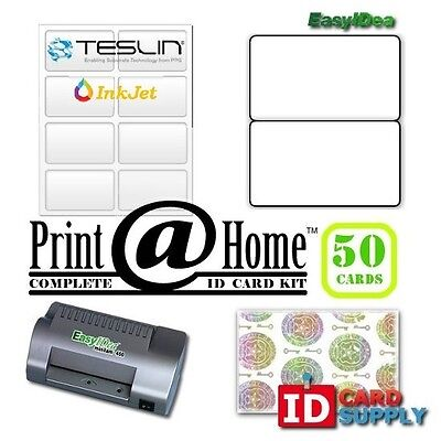Complete Print Home Kit Makes 50 Pvc Like Id Cards For Inkjet Printers