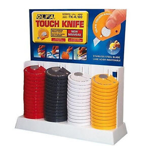 Olfa TK-4 Touch Knife, 60-pack (assorted colors)