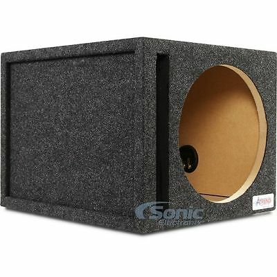 "Atrend 12SQV 12"" Single Pro Series Vented/Ported Subwoofer Enclosure Box"