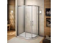 NEW Quadrant Enclosure Walk In Glass Shower - FREE DELIVERY
