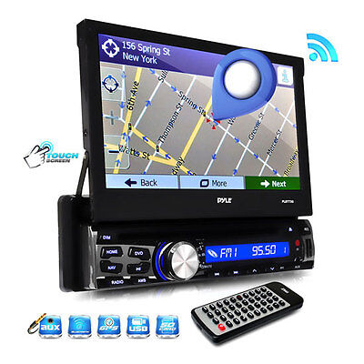 "New PLBT73G 7"" TouchScreen GPS Navigation CD MP3 SD/USB Radio Player & Bluetooth"
