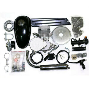 66cc/80cc Bicycle Engine Complete Kit Silver