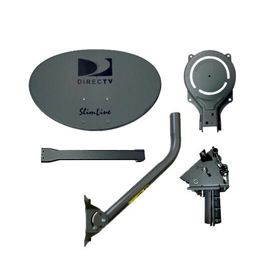 DIRECTV AU9 Slimline Dish Satellite Antenna with Feed Arm and Mount Ka/Ku SLSPF