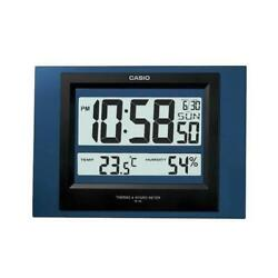 Casio Blue Resin Wall Clock ID16-2D ID-16-2D