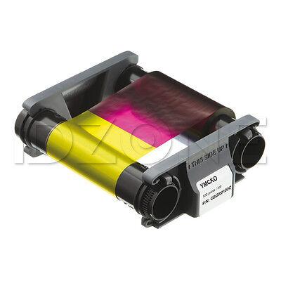 New Genuine Evolis Badgy200 Ymcko Color Ribbon   100 Prints   Cbgr0100c