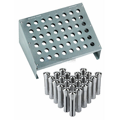 23 Pc R8 Collet Set 116 To 34 For Bridgeport With R8 Collet Rack - 48 Slot